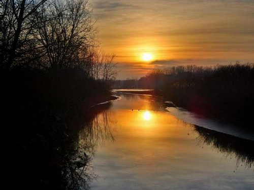 Kalmár Gergő Kacsák a naplementében című fotójából